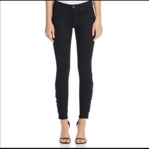 Blank NYC Black Lace Up Jeans